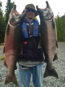 Silver Salmon with Kenai River Fishing Guide